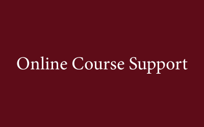 Online Courses Support graphic